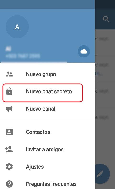 Telegram chats secretos